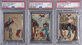 "1930s R138 Novel Package Corp. ""Adventures of Smilin Jack"" PSA-Graded Trio (3 Different)"