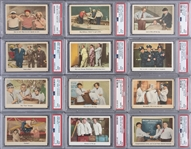 "1959 Fleer ""Three Stooges"" PSA-Graded Near Set (93/96)"