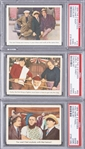 "1959 Fleer ""Three Stooges"" Checklist Cards PSA-Graded Trio (3 Different) – #s 16, 63 and 64"