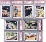 "1962 Mister Softee ""Adventures of Captain Chapel - A Trip to the Moon"" Complete Set (10) - #2 on the PSA Set Registry!"