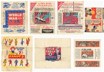 "1930s ""R""-Gum Cards Non-Sports Wrappers Collection (7 Different)"