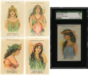"1910s S80 ""Women of Ancient Egypt"" Tobacco Silks Complete Set (25)"