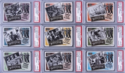 "2013 Panini Golden Age ""The Three Stooges"" PSA GEM MT 10 Complete Set (9) - Tied for #1 on the PSA Set Registry!"
