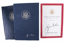 Lot of (2) George Bush Signed Book of Inaugural Addresses & 2007 State of the Union Address (White House Staff LOA & JSA)