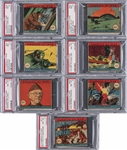 "1942 R12 W.S. Corp. ""America at War"" Complete Set (48) - #3 on the PSA Set Registry!"