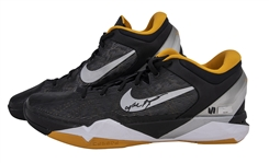 "2012 Kobe Bryant Game Used & Signed Pair of Nike Zoom VII Sneakers With ""Black Mamba"" Inscription Used on 2/19/2012 (Panini)"