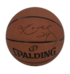 2014-15 Los Angeles Lakers Game Used Spalding Basketball Signed By Kobe Bryant (D.C. Sports & Beckett)