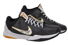 2009-10 Kobe Bryant Game Used & Signed Pair of Nike Kobe 5 Sneakers Photo Matched To 3/24/2010 - Final Championship Season (MeiGray & PSA/DNA)