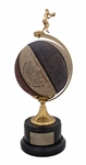Rick Barrys 10,000 Career Points Trophy with Actual 10,000 Point Used Ball from December 14, 1971 (Naismith Hall of Fame LOA)