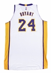 2014-15 Kobe Bryant Photo Matched Game Used and Signed White Los Angeles Lakers Jersey Worn January 4, 2015 vs Indiana Pacers (MeiGray & Beckett)