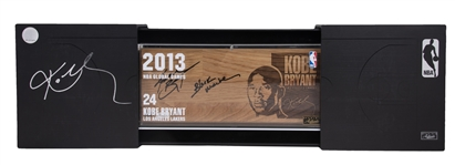 "2013 Kobe Bryant Signed Global Games Floor Piece With ""Black Mamba"" Inscription With Original Presentation Box (#14/24) (Panini)"