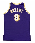 1996-97 Kobe Bryant Game Used Purple Road Jersey - Rookie Season (DC Sports LOA & Sports Investors Authentication)