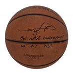 Rick Fox Game Used & Signed Los Angeles Lakers Spalding Basketball (Fox LOA)