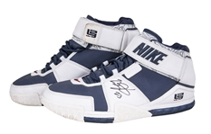 2004-05 LeBron James Game Used & Signed Nike Zoom Sneakers Sourced from Akron Charity With Apparent Photo Match (JSA & Sports Investors)