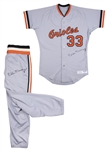 1986 Eddie Murray Game Used & Signed Baltimore Orioles Road Uniform: Jersey and Pants (Sports Investors Authentication & Beckett)