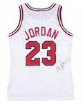 1990-91 Michael Jordan Game Used & Signed Chicago Bulls Home Jersey (MEARS A8, PSA/DNA & JSA)