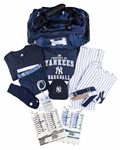 "2009 Gene ""Stick"" Michael Game Used New York Yankees Old Timers Day Full Uniform Including Jersey, Pants, Belt, Hat, Undershirt, T-Shirt, Bag, Credential and More (Michael Family LOA)"