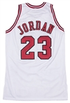 1995-1996 Michael Jordan Game Used & Signed Chicago Bulls Home Jersey From 72 Win Season (Sports Investors Authentication, Meza LOA & PSA/DNA)