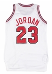 1989-90 Michael Jordan Game Used Chicago Bulls Home Jersey (MEARS A10, Bulls LOA & Naismith Hall of Fame LOA)