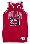 1989-90 Michael Jordan Game Used & Signed Chicago Bulls Road Jersey (MEARS A10 & JSA)