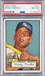 1952 Topps #311 Mickey Mantle – PSA NM-MT 8 – An Incredibly Well-Centered Specimen!