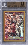 2003/04 Topps Chrome (Gold Refractors) #111 LeBron James Rookie Card (#37/50) – BGS GEM MINT 9.5