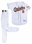 Cal Ripken, Jr. End Of Consecutive Game Streak Game Worn, Photo Matched & Signed Baltimore Orioles Home Uniform (Jersey & Pants) From 9/20/1998 (Ripken LOA. Resolution Photomatching & Beckett)