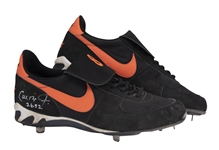 Cal Ripken, Jr. Consecutive Game (All-Time Record) #2632 Game Used & Signed Baltimore Orioles Nike Cleats - Last Game of Streak (Ripken LOA & Beckett)