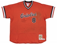 "2001 Cal Ripken Jr. Game Used, Signed & Inscribed Baltimore Orioles ""Turn Back The Clock"" Jersey - Authenticated To 7/18/01 & 8/15/01 (Sports Investors Authentication & JSA)"