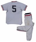 1981 Cal Ripken Jr. Rochester Red Wings Game Used Road Uniform (MEARS A10)
