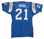 1970-72 John Hadl Game Used San Diego Chargers Home Jersey (MEARS A10)