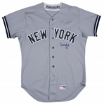 1983 Don Mattingly Game Used & Signed New York Yankees Road Jersey - Debut Season With Rare Number 46 (JSA)