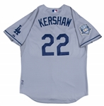 2008 Clayton Kershaw Game Used Los Angeles Dodgers Road Jersey With 50th Anniversary Patch (Dodgers-Steiner LOA & MLB Authentication)