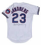 1993 Ryne Sandberg Game Used and Signed Chicago Cubs #23 Home Jersey Photo Matched to Numerous Games & Baseball Cards (Sports Investors & JSA)