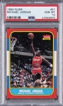 1986-87 Fleer #57 Michael Jordan Rookie Card – PSA GEM MT 10 - A Well-Centered Example!