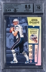 2000 Playoff Contenders #144 Tom Brady Signed Championship Ticket Rookie Card (#095/100) – BGS NM-MT+ 8.5/BGS 10