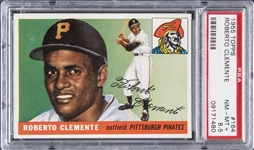 1955 Topps #164 Roberto Clemente Rookie Card - PSA NM-MT+ 8.5