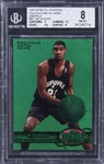 1997-98 Metal Universe Precious Metal Gems Emerald #66 Tim Duncan Rookie Card (#03/10) - BGS NM-MT 8