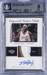 "2003-04 UD ""Exquisite Collection"" Exquisite Rookie Patch Autograph (RPA) #78 LeBron James Signed Patch Rookie Card (#09/99) – BGS MINT 9/BGS 10 – LeBrons First ""Exquisite Collection"" Rookie Card!"