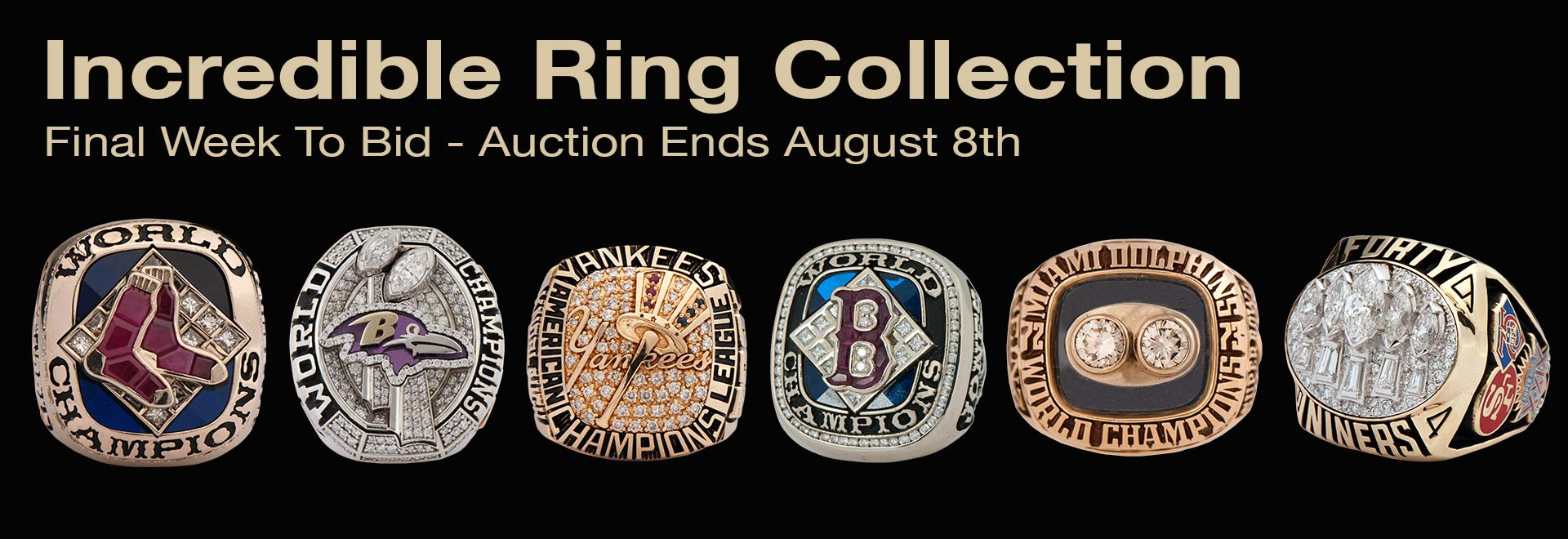 Incredible Championship Ring Collection Starting with lot 16