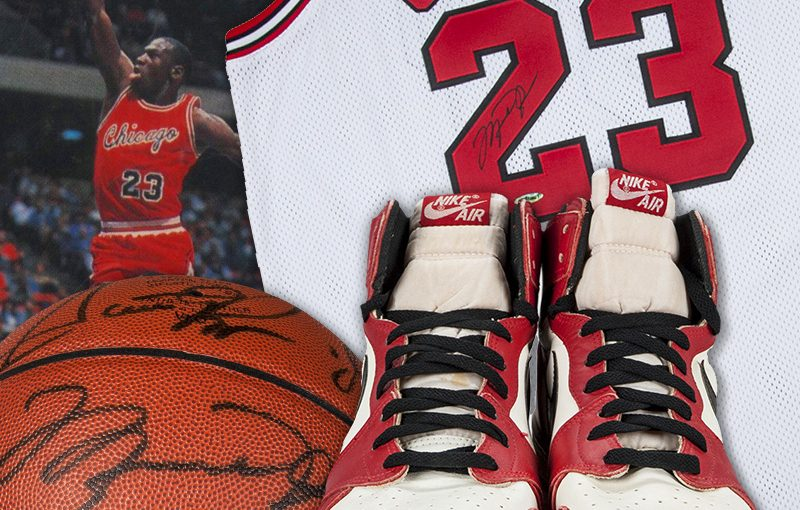 Michael Jordan Collectibles in Summer Auction