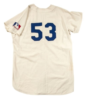 1967 Don Drysdale Game Worn Los Angeles Dodgers Jersey (Mears and Bat Boy LOA)