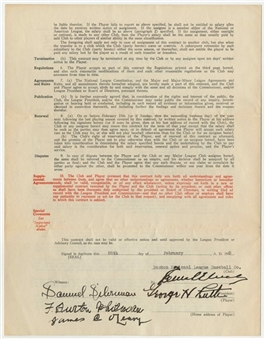 1935 Babe Ruth Signed Boston Braves Contract-His Final MLB Contract! (PSA/DNA- Graded Gem Mint 10!)