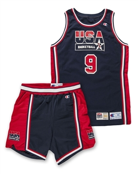 1992 Michael Jordan USA Olympic Dream Team Game Used and Signed Full Uniform (Basketball HOF LOA & UDA) (Jersey and Shorts)