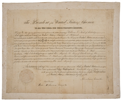 1861 Tremendous Abraham Lincoln Signed 1861 Presidential Document With Bold Signature (PSA/DNA)