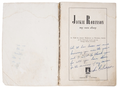 "1948 Jackie Robinson Autographed and Inscribed  To Al Campanis ""My Own Story"" Biography Book (PSA/DNA)"