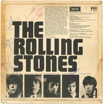 The Rolling Stones Vintage Signed First Album Cover Album Signed By Original Band- Jagger, Jones, Wyman, Watts and Richards (JSA)