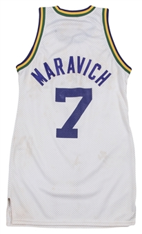 1978-79 Pete Maravich Game Used New Orleans Jazz Home Jersey (MEARS A10)