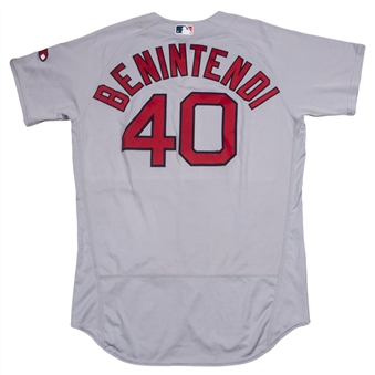 2016 Andrew Benintendi Game Used & Photo Matched Boston Red Sox MLB Debut Jersey (Road) Worn on 08/02/16 and 8/24/16 - First Career Home Run Jersey! (MLB Authenticated & Resolution Photomatching)