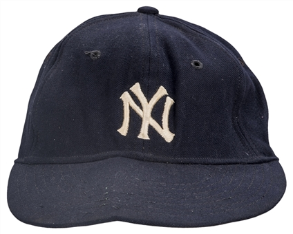 1951-1963 Mickey Mantle Game Used New York Yankees Cap (MEARS)